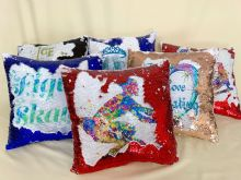 Reversible sequin cushion - roller